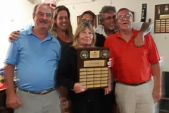 """The annual Steve Horne Memorial Golf Tournament was held at Oxbow Glen Golf Course on Saturday, 14 Sept. Another great success. We had 72 """"golfers"""". the winning team was made up of Sam Semple, Steve Sepella, John Reed and Dennis McGee."""