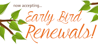 Early Bird Membership Renewal