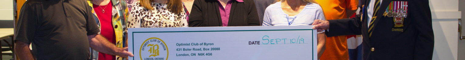 Optimist Club of Byron Donation
