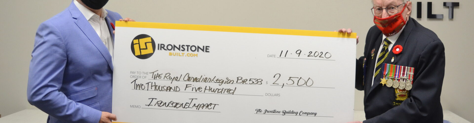Ironstone Built 2020 Poppy Fund Donation